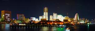 横浜夜景(パノラマ)の写真素材 [FYI02982459]