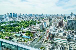 あべのハルカスからの大阪の街並みの写真素材 [FYI02982467]