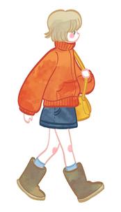 歩く女の子のイラスト素材 [FYI02982638]