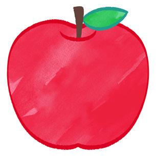 赤いりんごのイラストのイラスト素材 [FYI02982655]