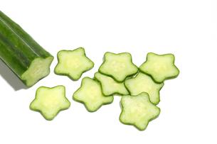星型の胡瓜の写真素材 [FYI02982762]