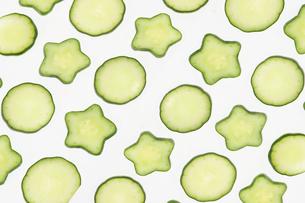 星型の胡瓜の写真素材 [FYI02982764]