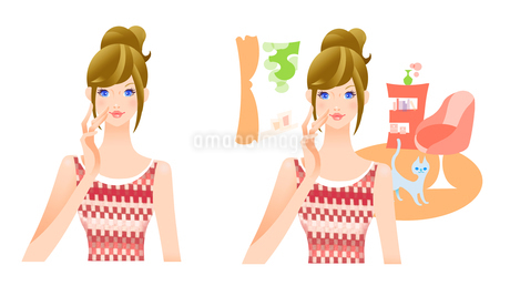 バストアップ 女性のイラスト素材 [FYI02983029]