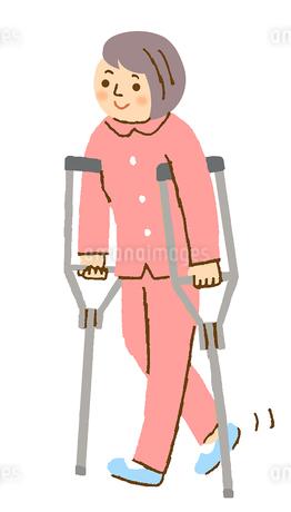 松葉杖 女性のイラスト素材 [FYI02983058]