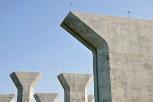 高速道路の建設の写真素材 [FYI02983171]