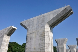 高速道路の建設の写真素材 [FYI02983175]