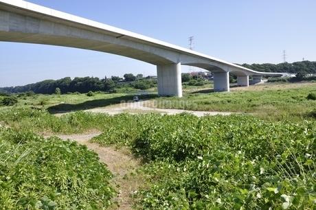 建設中の高速道路のインターチェンジの写真素材 [FYI02983206]