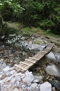 東海自然歩道 渓流の橋の写真素材 [FYI02983217]