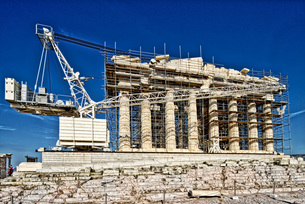 ギリシャ パルテノン神殿の写真素材 [FYI02983318]