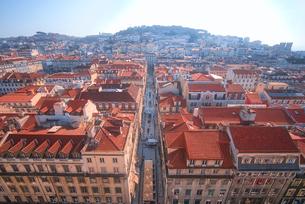 サンタジュスタのエレベーターから見るリスボン市街地風景の写真素材 [FYI02983319]