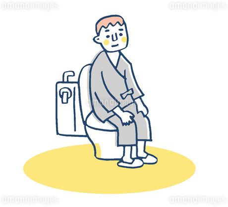 トイレ 患者 ピンクのイラスト素材 [FYI02983386]