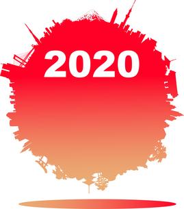 2020年の日本の年賀状素材のイラスト素材 [FYI02983632]
