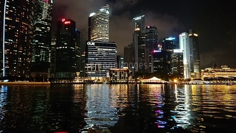 Singapore nightの写真素材 [FYI02983678]
