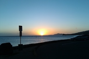 Sunset beachの写真素材 [FYI02983715]