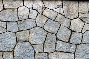 白い石造りの壁の写真素材 [FYI02983960]