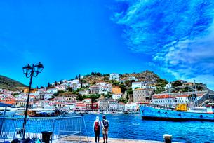 ギリシャ エーゲ海の島々 イドラ島の写真素材 [FYI02984058]