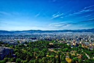 アテネ オリュンポスの丘からの風景の写真素材 [FYI02984063]