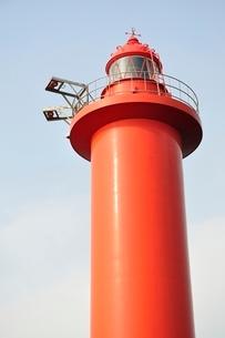 赤い灯台の写真素材 [FYI02984086]