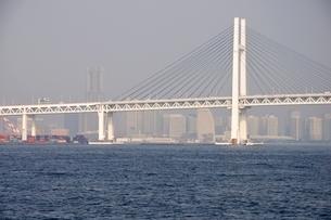 横浜港の横浜ベイブリッジの写真素材 [FYI02984091]