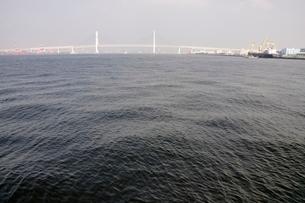 横浜港の横浜ベイブリッジの写真素材 [FYI02984105]