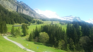 スイス ユングフラウ地方 ヴェンゲンアルプ~ウェンゲン 10 ハイキングコースの写真素材 [FYI02984216]