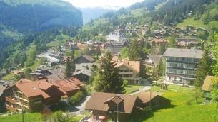 スイス ユングフラウ地方 ヴェンゲン 3の写真素材 [FYI02984221]