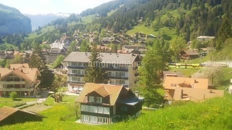 スイス ユングフラウ地方 ヴェンゲン 4の写真素材 [FYI02984222]