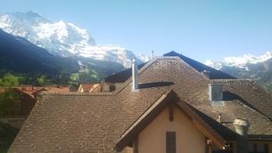 スイス ユングフラウ地方 ウェンゲン 10の写真素材 [FYI02984228]