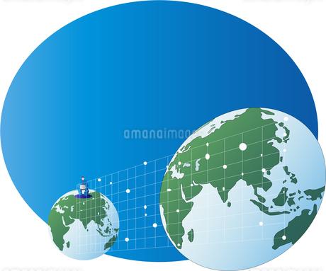 ネットワークで繋がる世界の人々のイラスト素材 [FYI02984233]