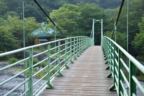 西丹沢公園橋の写真素材 [FYI02984471]