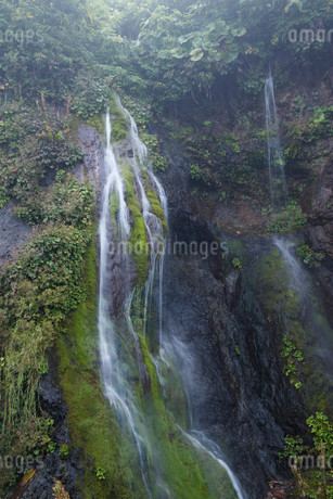 岩肌を流れる小さな滝の写真素材 [FYI02984575]