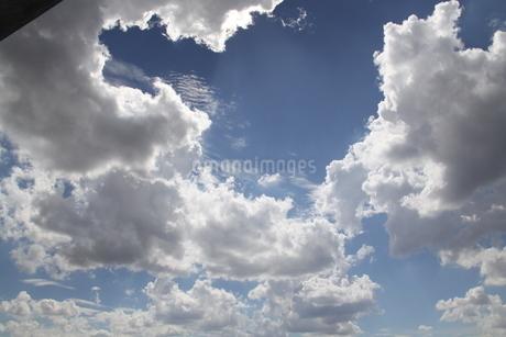 サンパウロの夏の青空と雲の写真素材 [FYI02984675]