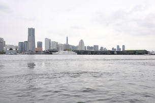 横浜みなとみらい21と新港埠頭の写真素材 [FYI02984941]