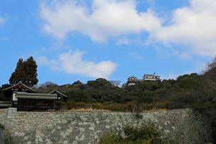堀之内からの松山城の写真素材 [FYI02985470]