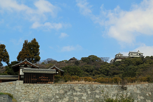 堀之内からの松山城の写真素材 [FYI02985474]