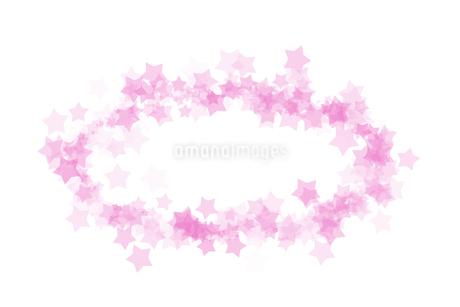 星 フレーム丸 ピンクのイラスト素材 [FYI02985477]