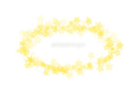 星 フレーム丸 黄色のイラスト素材 [FYI02985480]