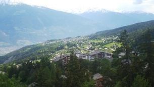 スイス バレー州 クランモンタナ 5の写真素材 [FYI02985571]