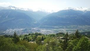 スイス バレー州 クランモンタナ 13 マッターホルンほか山脈の写真素材 [FYI02985757]