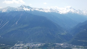 スイス バレー州 クランモンタナ 15 マッターホルンほか山脈の写真素材 [FYI02985759]