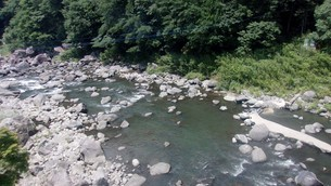玖珠川in大分の写真素材 [FYI02986162]