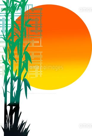 和風の風景の年賀状素材のイラスト素材 [FYI02986283]