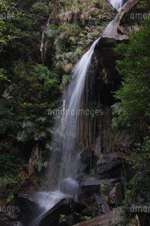 南国沖縄の岩と滝の写真素材 [FYI02986314]