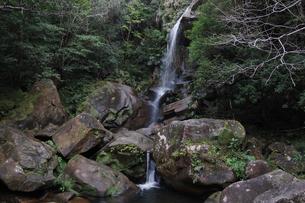 南国沖縄の岩と滝の写真素材 [FYI02986315]