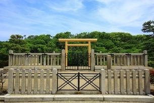 反正天皇陵古墳の拝所の写真素材 [FYI02986401]