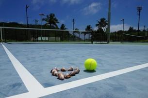 母島のテニスコートの写真素材 [FYI02986564]