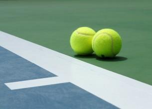 母島のテニスコートの写真素材 [FYI02986565]