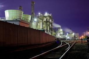 川崎の工場夜景の写真素材 [FYI02986979]