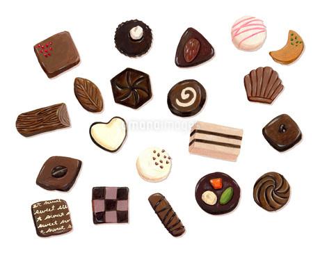 いろいろなチョコレートのイラスト素材 [FYI02987174]