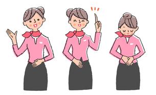 説明する女性 セット3のイラスト素材 [FYI02987183]
